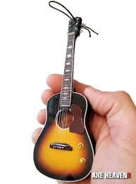 sunburst acoustic guitar ornament 6 mini replica