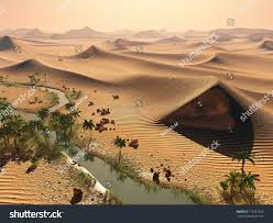 global warming concept solitary sand dunes stock illustration