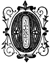 o ornamental letter clipart etc