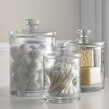 Glass Bathroom Storage Jars Bathroom Storage Jar Ideas Search Bathroom Pinterest