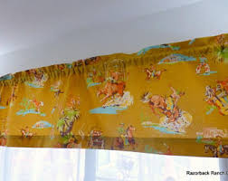 Horse Kitchen Curtains Kids Curtains Etsy