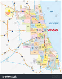 Downtown Chicago Map by Chicago Neighborhood Map Stock Vector 227989738 Shutterstock