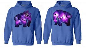 galaxy sweater matching hoodie elephant sweatshirt hooded lover