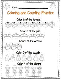 kindergarten thanksgiving math ela common packet