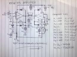 power amplifier watt schematic design wiring diagram components