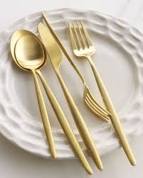 the best modern gold and copper flatware cutlery modern and gold