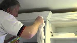 How To Install Kitchen Cabinet Crown Molding How To Prep U0026 Paint Crown Molding On Kitchen Cabinets Youtube