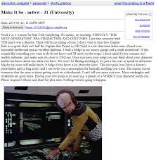 Flag Craigslist Post Big Shiny Robot Star Trek Fan Posts Craigslist Ad Asking For