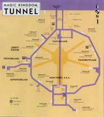 Map Of Epcot The Utilidors Walt Disney World Magic Kingdom U0026 Epcot