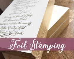 wedding invitation printing foil pressed wedding invitations foil invitation printing
