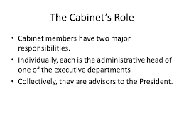 Cabinet Responsibilities Chapter 15 Government At Work The Bureaucracy Ppt Download