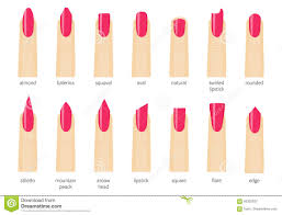 different fashion nail shapes set kinds of nails salon nails