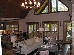 small cabin home plan with open living floor plan bedroom rustic
