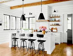 are black and white kitchens in style 23 farmhouse kitchen ideas to better homes gardens