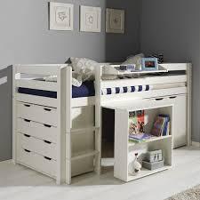 lit bureau mezzanine fantaisie lit mezzanine bureau enfant avec tabouret blanc commode