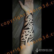 inner forearm tribal in high resolution