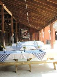 picnic decorations ideas blue gingham scarves make the long table
