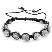 black swarovski crystal bracelet images Bling jewelry shamballa bracelet unisex black swarovski crystal beads jpg