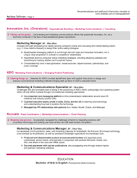 Sample Resume For Marketing Manager by Resume Samples U0026 Examples Brightside Resumes