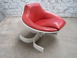 Red Leather Swivel Chair by Red Leather Sella 1001 Chair By Joe Colombo For Comfort Italy