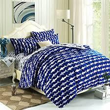 Sizes Of Duvet Covers Amazon Com Esydream Home Bedding Ocean Shark Design Kids Duvet