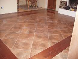 tiled kitchen floor ideas wood tile flooring