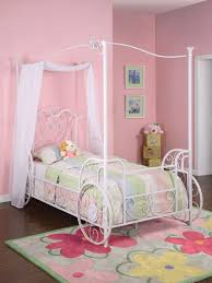 carriage twin metal canopy bed antique white walmart inside
