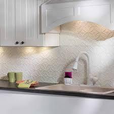 fasade backsplash rings in gloss white