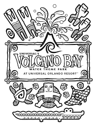 universal u0027s volcano bay coloring page theme park comic books
