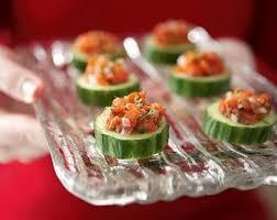 recette canape canapé de concombre au saumon recettes de cuisine suèdoise