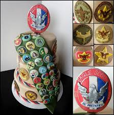 eagle scout cake topper badge winning boy scout cupcakes and cakes to celebrate