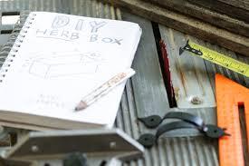 diy herb box live simply