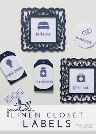 Printable Labels Labeling In The Linen Closet With Free Printable Labels The