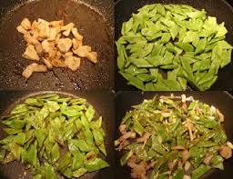 comment cuisiner les haricots plats recettes d une chinoise coco plat au porc 肉炒扁豆 ròu chǎo biǎndòu