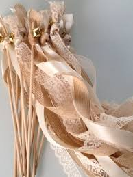wedding wands image result for wedding ribbon bell burlap lace coral our