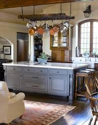 kitchen island with pot rack how to hang a pot rack and lights a kitchen island pot rack