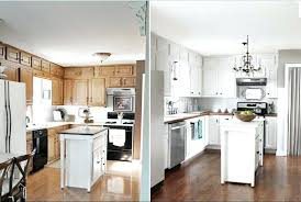 pictures of painted kitchen cabinets before and after before and after decor liwenyun me