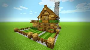 minecraft how to build a small survival house tutorial rustic