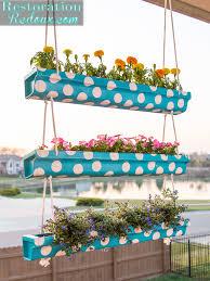3 tier polka dot hanging gutter planter restoration redoux