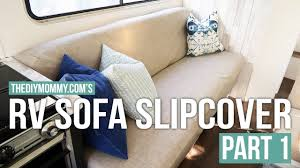 how to make a sofa slipcover how to sew a slipcover for an rv jackknife sofa part one