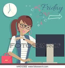 imagenes viernes trabajando clipart viernes trabajando day mujer soñar aproximadamente