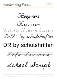 blank lined writing paper fonts to help kids to write qld cursive the organised housewife