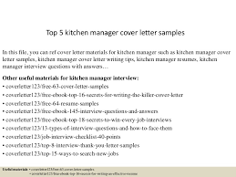 Kitchen Manager Resume Sample by Top5kitchenmanagercoverlettersamples 150619083231 Lva1 App6892 Thumbnail 4 Jpg Cb U003d1434702804