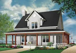 Cottage House Plans With Wrap Around Porch House Plan W3504 Detail From Drummondhouseplans Com