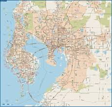Polk County Florida Map by Large Tampa Maps For Free Download And Print High Resolution And