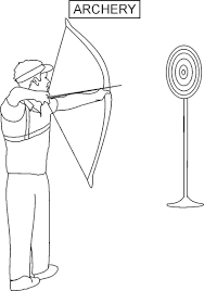 12 archery coloring pages print color craft