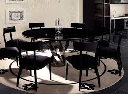 Modern Round Dining Table For - Black dining table for 8