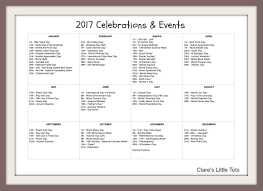 calendar 2017 months october holidays us stock illustration