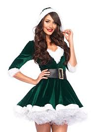 mrs claus costumes leg avenue women s 2 mrs claus costume clothing