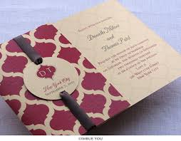 Wedding Invitations India Indian Wedding Invitation Moroccan Monogram Folded Imbue You